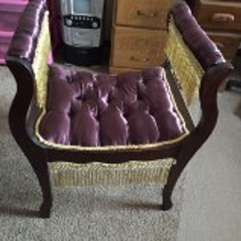 Upholstered possibly vintage chair