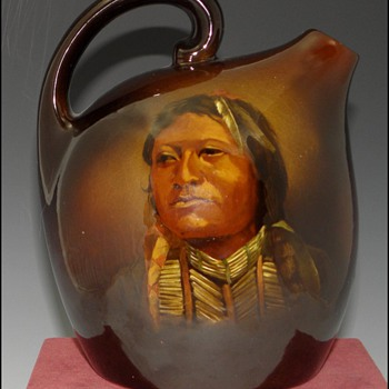 J.B. Owens Pottery - Native American Portrait