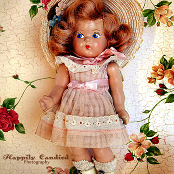 Early 1940's Vogue Ginny Toddles Composition Doll - Dolls