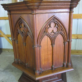 1920's Gothic Church Pulpit - Furniture