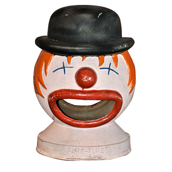 1950's Happy Time Clown head - Games