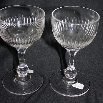 American Brilliant Cut Glass Wines - Glassware