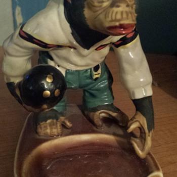 Vintage Bowling Monkey