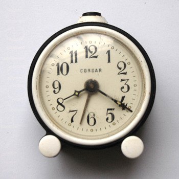 Antique 40's-50's Russian Corsar alarm clock.