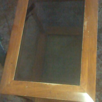 Haunted Wooden Table with Glass Panel - Furniture