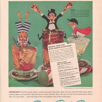 1950 Puerto Rican Rums Advertisement