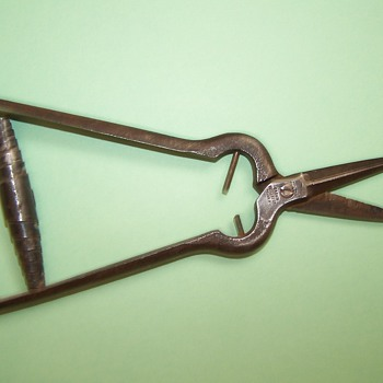 Antique inlay shears?