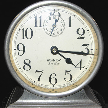 Nickel Westclox Ben Hur Clock Circa 1925 - Clocks