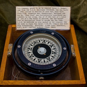 WWII Japanese Naval Destroyer Executive Officer Compass - Military and Wartime