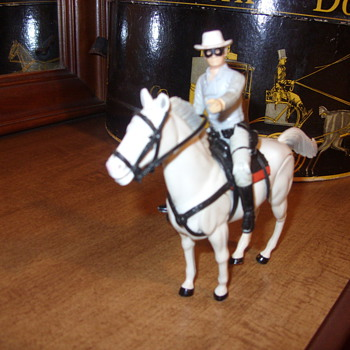 plastic lone ranger and silver