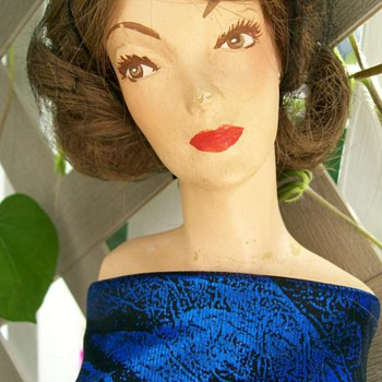 "1940's Margit Nilsen 30"" Mannequin doll and Pattern - Advertising"