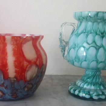 Two Welz pieces - Art Glass