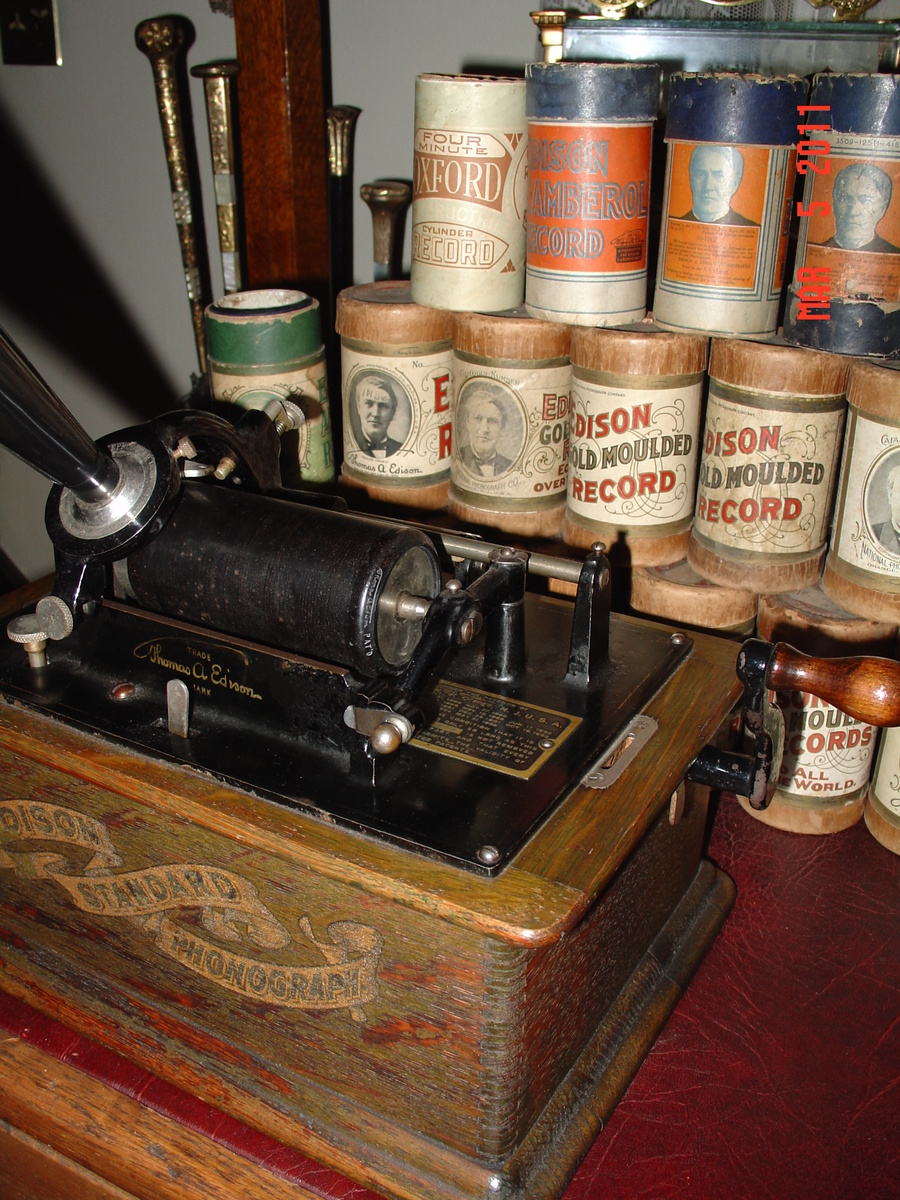 A true antique edison standard phonograph 1800 39 s by for Edison home show