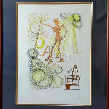 "Salvador Dali Hommage à Leonardo da Vinci ""La Linotype (Linotype)"""