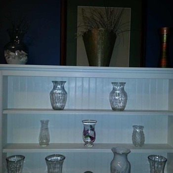 Here are a few vases I've collected - Art Glass