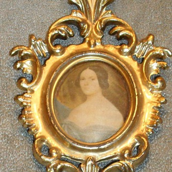 Miniature Portrait Painting of a Lady on Silk