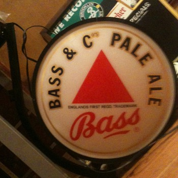 Bass Pale Ale Lighted Flange Sign, Double Sided - Fallon - Breweriana