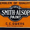 Smith-Alsop porcelain paint sign