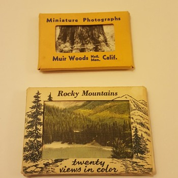 Fun Mini Vintage Photo and Views in Color Postcards