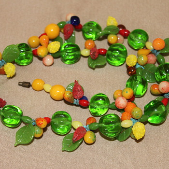 Murano glass fruit salad necklace