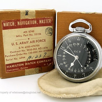 Hamilton 4992B Military Pocket Watch & Original Box - Pocket Watches