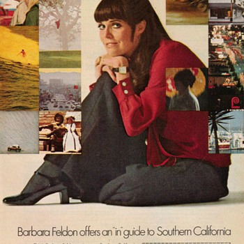 1969 - Barbara Feldon for California Travel - Advertisement - Advertising