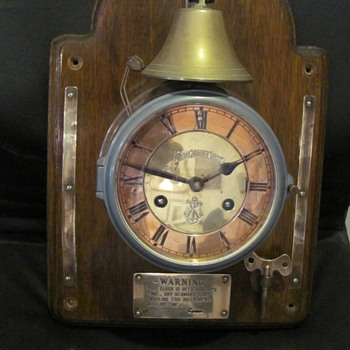 Blue Anchor Line Ships Clock