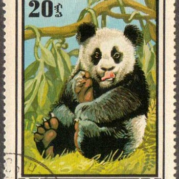 "1974 - Mongolia ""Common Panda"" Postage Stamp - Stamps"