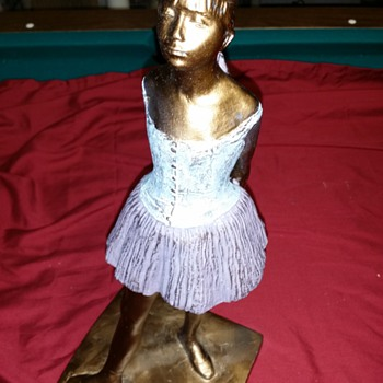 "Degas's Sculpture... signed by ???....original? about 13.5""tall - Visual Art"