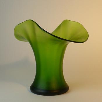 Art Nouveau green vase