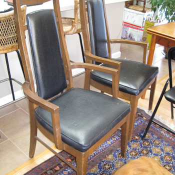 Are these chairs Mid Century and can anyone tell me what they might be worth?