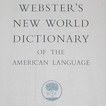 1953-1960 Webster&#039;s New World Dictionary