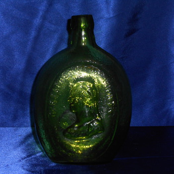 General Taylor Never Surrenders flask Emerald-Green  - Bottles