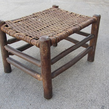 Old Handcrafted Footstool