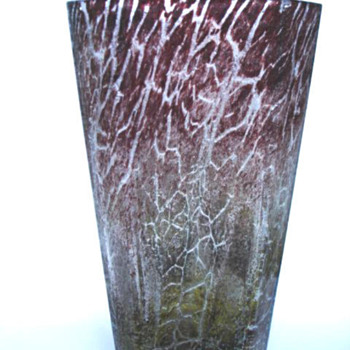 IKORA BROWN FABERWARE LABELED. - Art Glass