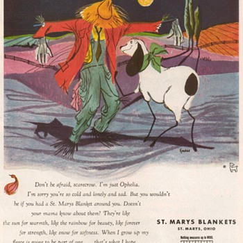 1955 - St. Marys Blankets Advertisement - Advertising