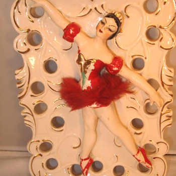 Ballet Dancer Wall Pocket - Art Pottery
