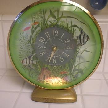 Angel fish Aquarium Clock