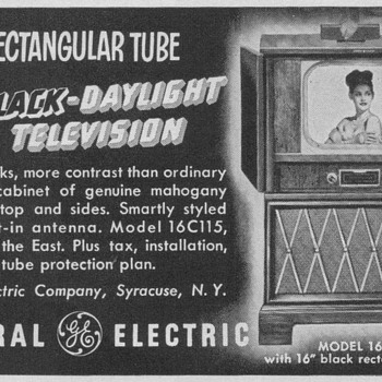 1950 - General Electric Model 16C115 Television Advertisement