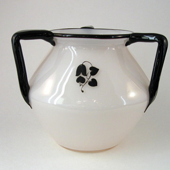 Loetz 3-handled Tango vase with design by Dagobert Peche