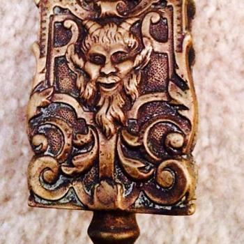 Fancy Antique Brass Match Box Holder