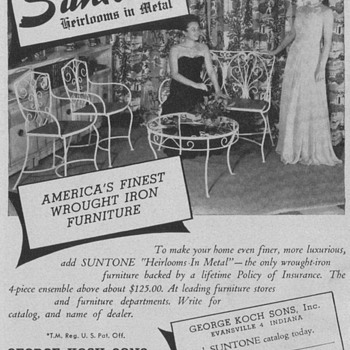 1950 Suntone Wrought Iron Advertisement - Advertising