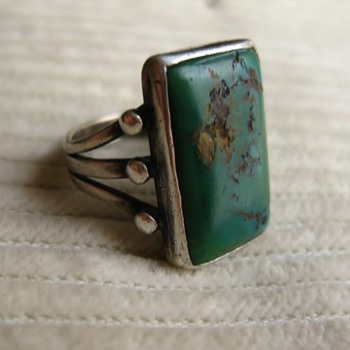 Another group of unmarked sterling and green turquoise!!! - part 5 - yikes!