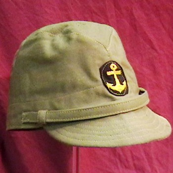 WW II Japanese Imperial Marine Cap - Military and Wartime
