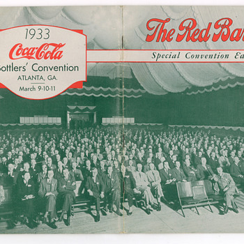 1933 Coca-Cola Red Barrel Special Bottler's Convention Edition