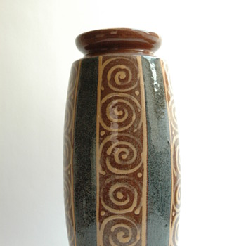 huge french art deco pottery vase by LEON ELCHINGER (1871-1942)
