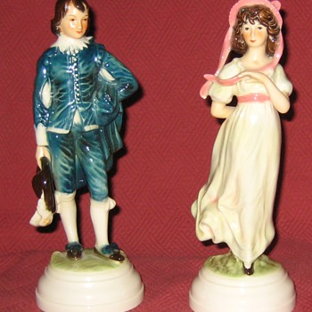 Goebel The Blueboy and Pinkie Porcelain Figurines