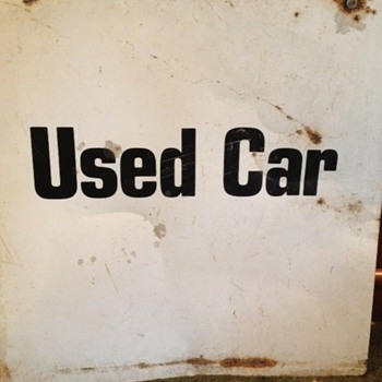 old car lot sign
