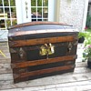 Antique Leather Trunk 1880's