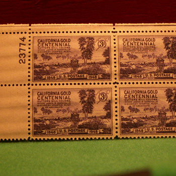 1948 California Gold Centennial 3¢ Stamps - Stamps